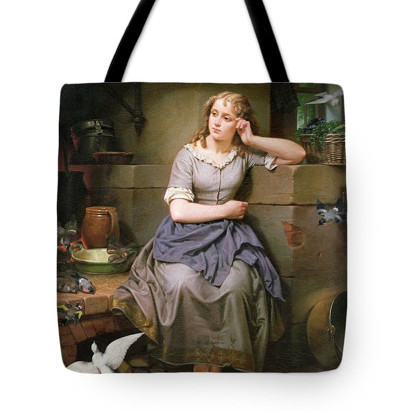 Cinderella And The Birds Tote Bag