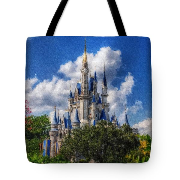 Cinderella Castle Summer Day Tote Bag