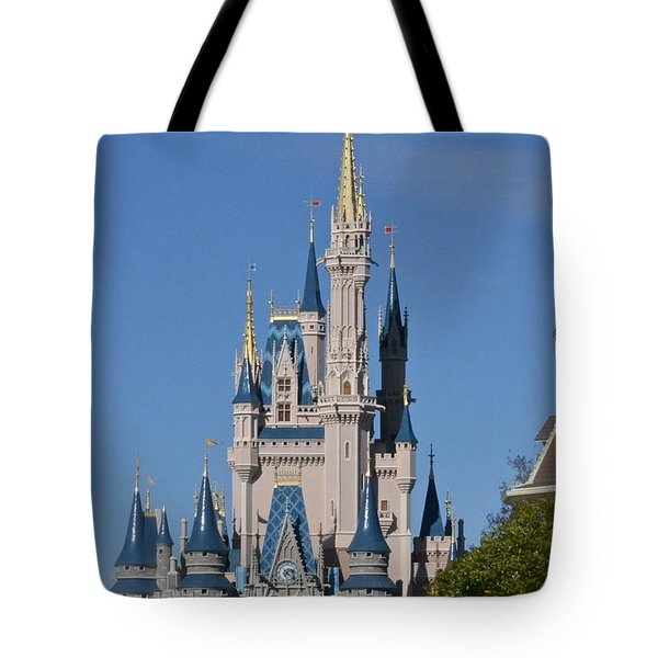 Cinderella's Castle Tote Bag by Carol  Bradley