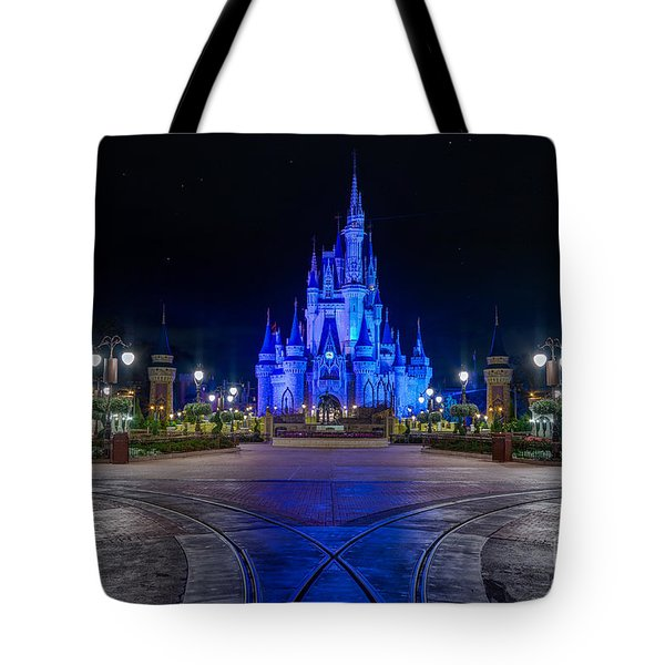 Cinderellas Castle Glow Tote Bag