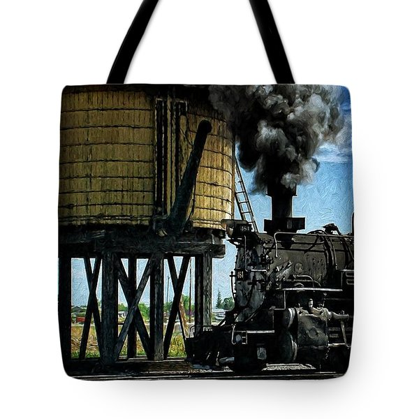 Tote Bag featuring the photograph Cinders And Water by Ken Smith