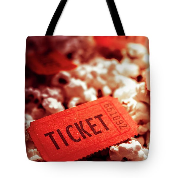 Cinema Ticket On Snackbar Food Tote Bag