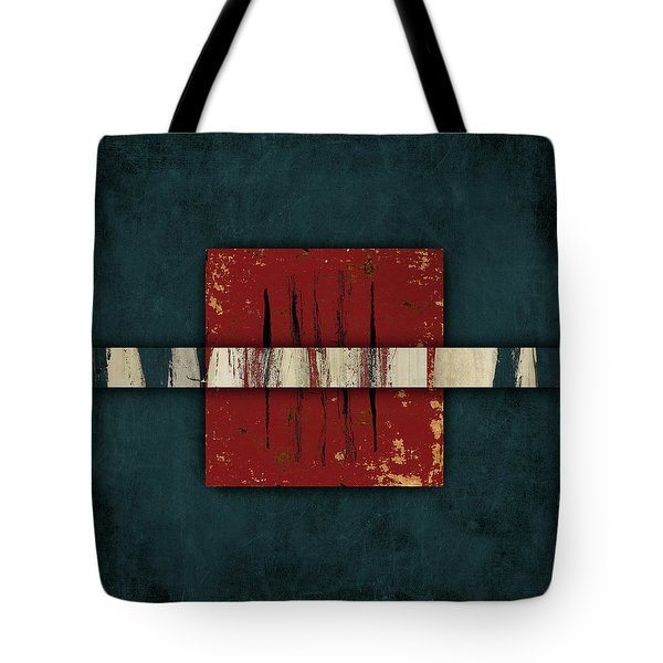 Cinnabar And Indigo One Of Two Tote Bag