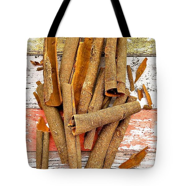 Cinnamon Bark Tote Bag