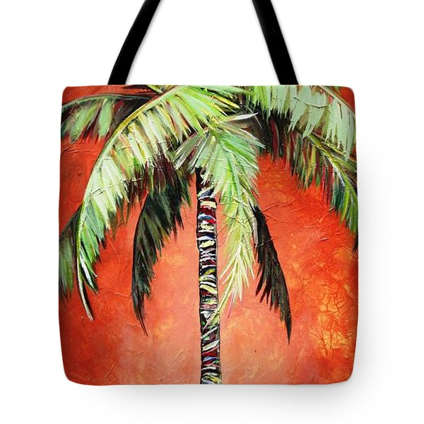 Cinnamon Palm Tote Bag