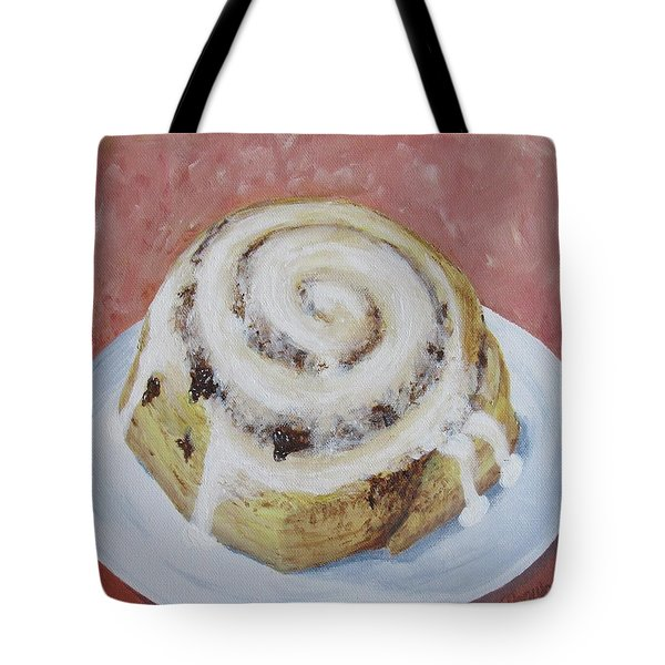 Tote Bag featuring the painting Cinnamon Roll by Nancy Nale