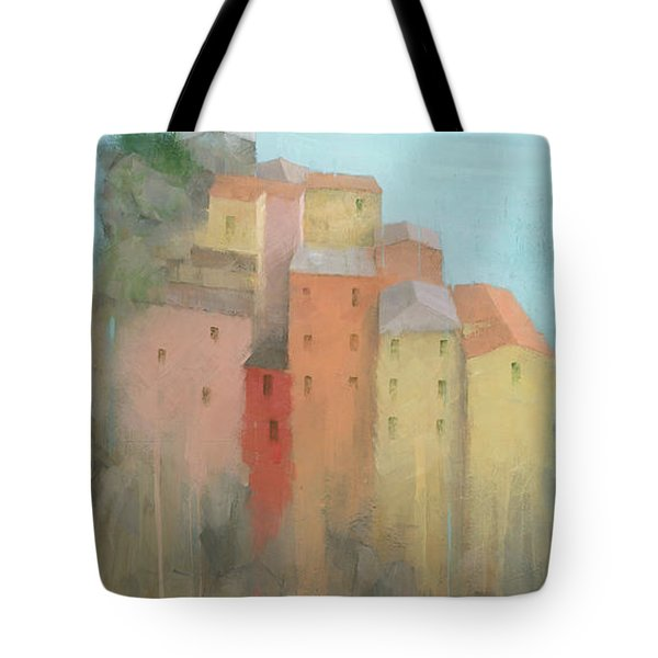 Tote Bag featuring the painting Cinque Terre by Steve Mitchell