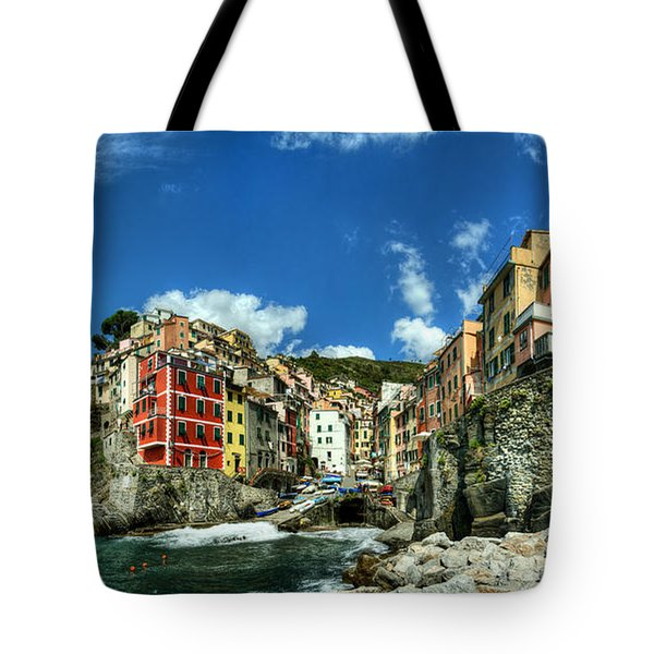 Cinque Terre - View Of Riomaggiore Tote Bag