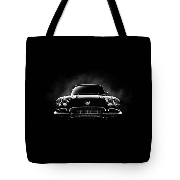 Tote Bag featuring the digital art Circa '59 by Douglas Pittman