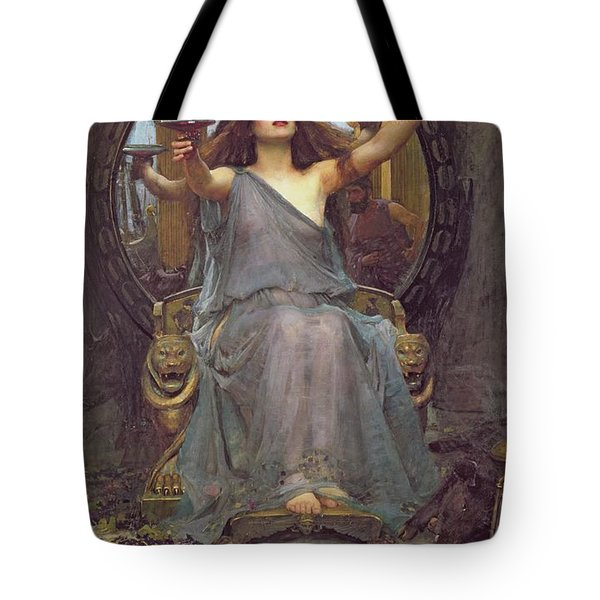 Circe Offering The Cup To Ulysses Tote Bag by John Williams Waterhouse
