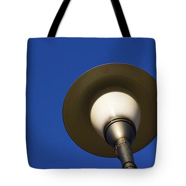 Circle And Blues Tote Bag by Prakash Ghai