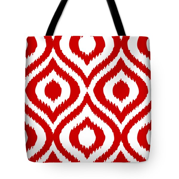 Circle And Oval Ikat In White T02-p0100 Tote Bag