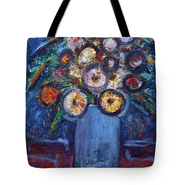 Circle Of Flowers Tote Bag