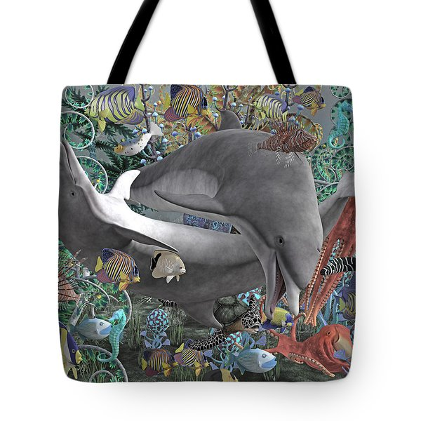 Circle Of Friends Tote Bag by Betsy Knapp