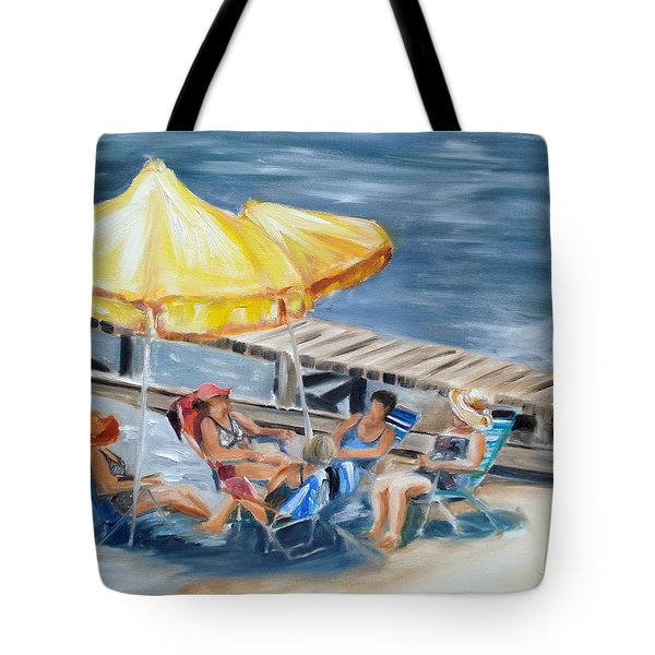 Circle Of Friends Tote Bag by Donna Tuten