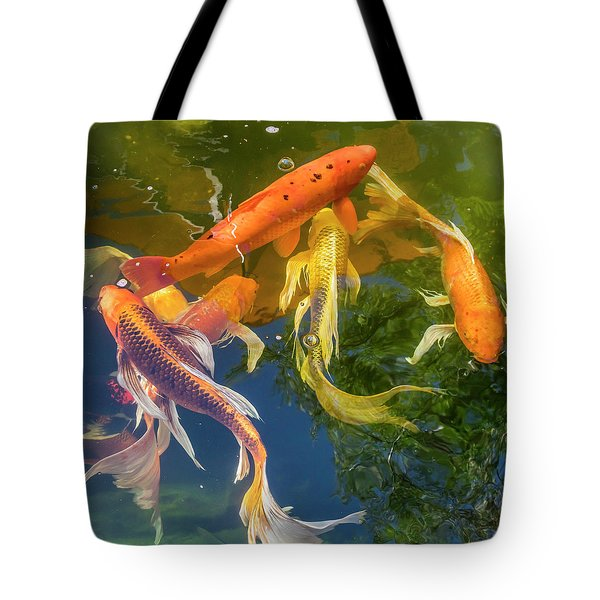 Circle Of Koi Tote Bag