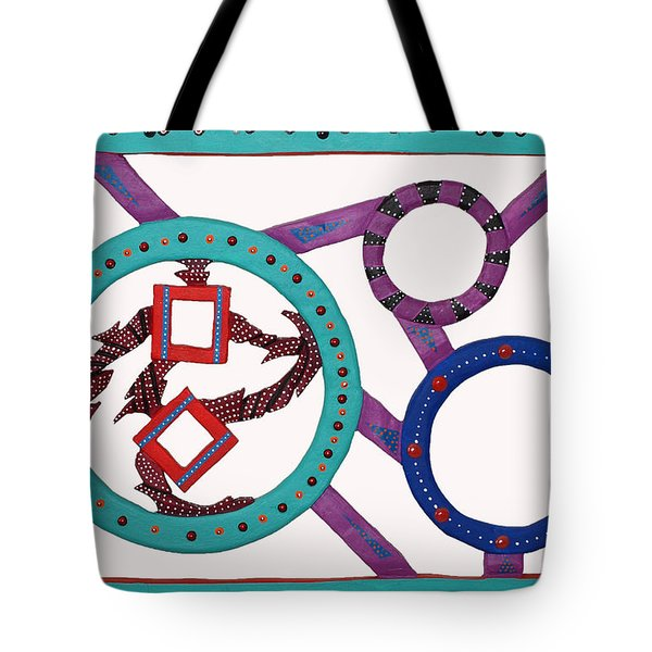 Tote Bag featuring the mixed media Circle Time by Robert Margetts