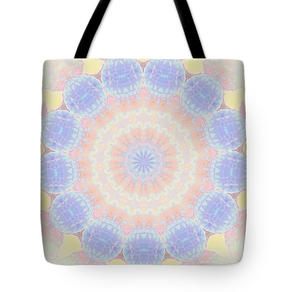 Circle Wreath Kaleidoscope Tote Bag by Shirley Moravec