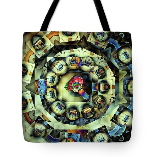 Circled Squares Tote Bag by Ron Bissett