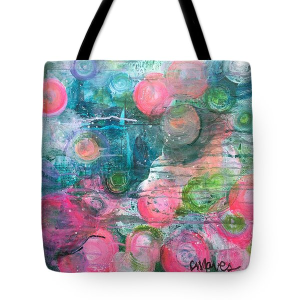 Tote Bag featuring the painting Circles For San Marco  by Laurie Maves ART