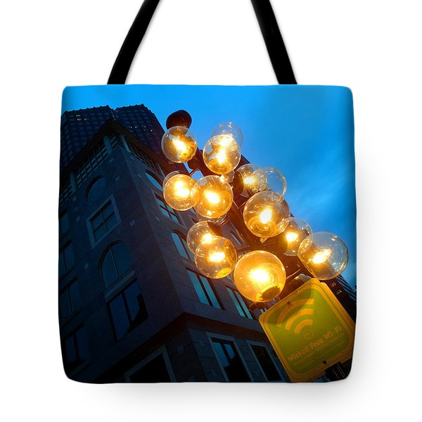 Circles Of Light  Tote Bag