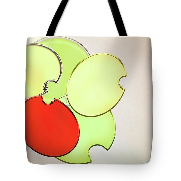 Circles Of Red, Yellow And Green Tote Bag