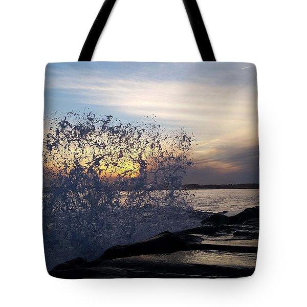Circling Sunset Tote Bag