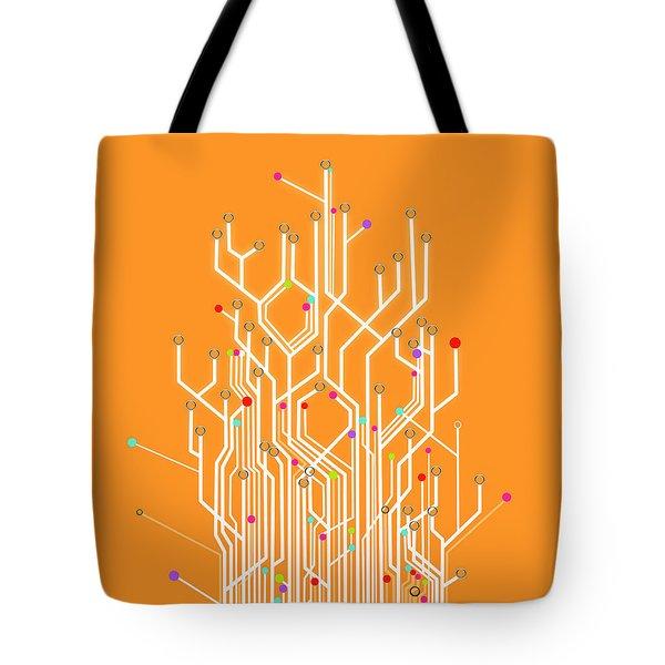 Circuit Board Graphic Tote Bag