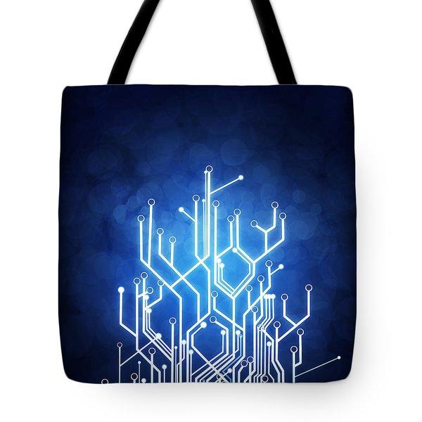 Circuit Board Technology Tote Bag by Setsiri Silapasuwanchai
