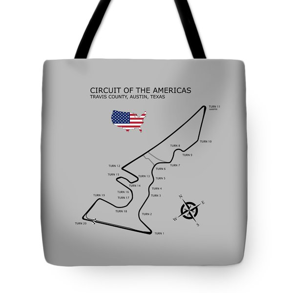 Circuit Of The Americas Tote Bag by Mark Rogan