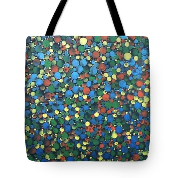 Circular Color Tote Bag by T Fry-Green