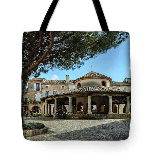 Circular Grain Market In Auvillar Tote Bag by RicardMN Photography