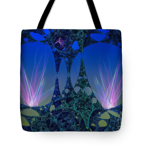 Tote Bag featuring the digital art Circular Motion by Melissa Messick