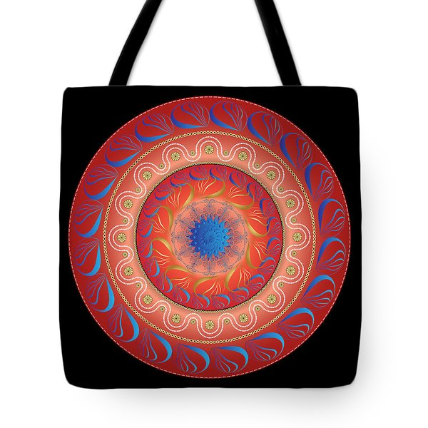 Circularium No. 2583 Tote Bag by Alan Bennington