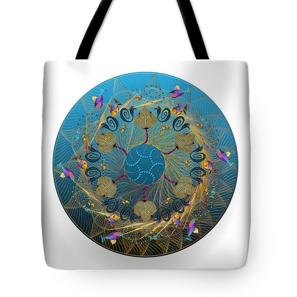 Tote Bag featuring the digital art Circulosity No 3419 by Alan Bennington