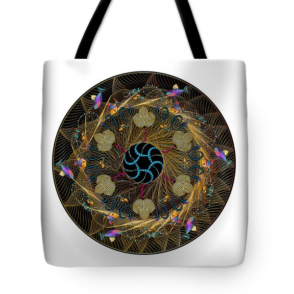 Tote Bag featuring the digital art Circulosity No 3420 by Alan Bennington