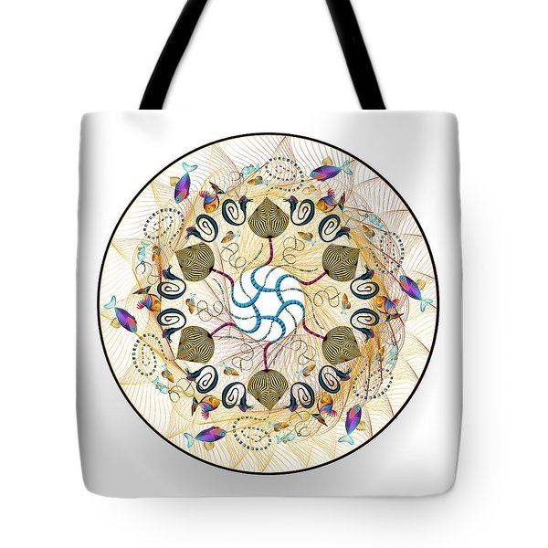 Tote Bag featuring the digital art Circulosity No 3421 by Alan Bennington
