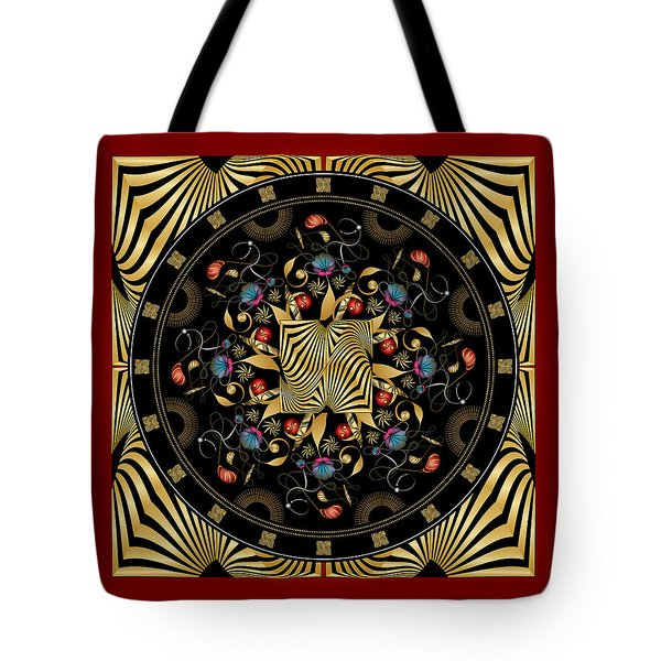 Tote Bag featuring the digital art Circulosity No 3425 by Alan Bennington