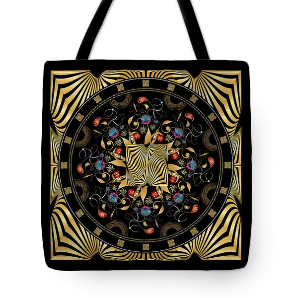 Tote Bag featuring the digital art Circulosity No 3426 by Alan Bennington