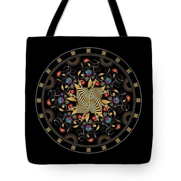 Tote Bag featuring the digital art Circulosity No 3427 by Alan Bennington