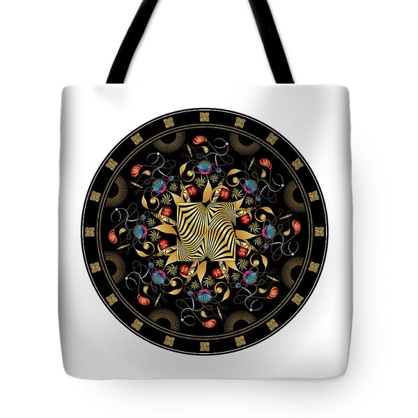 Tote Bag featuring the digital art Circulosity No 3428 by Alan Bennington