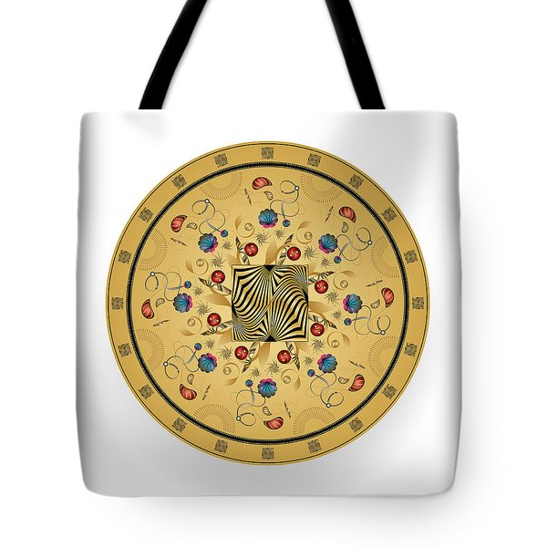 Tote Bag featuring the digital art Circulosity No 3429 by Alan Bennington