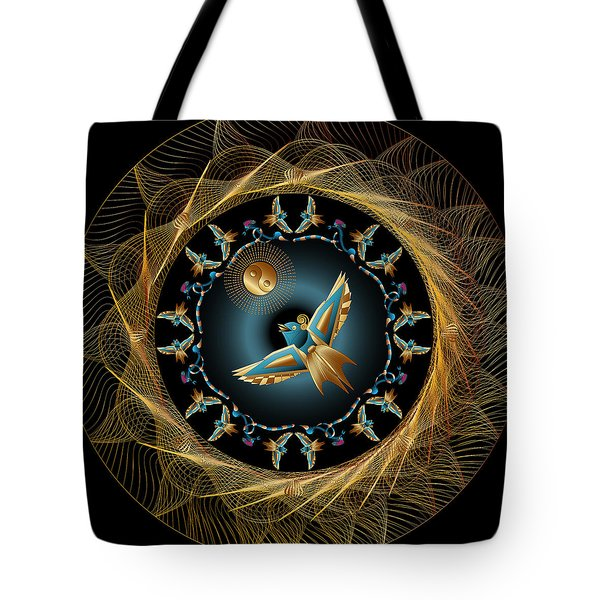 Tote Bag featuring the digital art Circulosity No 3434 by Alan Bennington