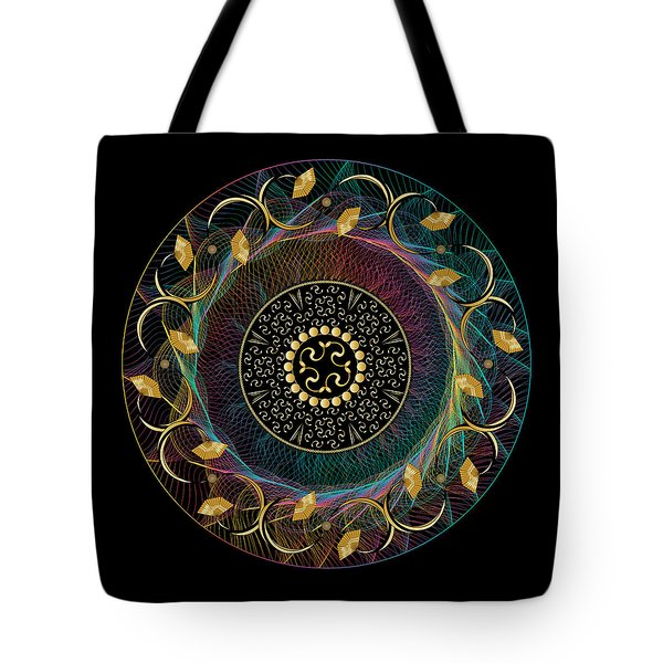 Tote Bag featuring the digital art Circulosity No 3435 by Alan Bennington
