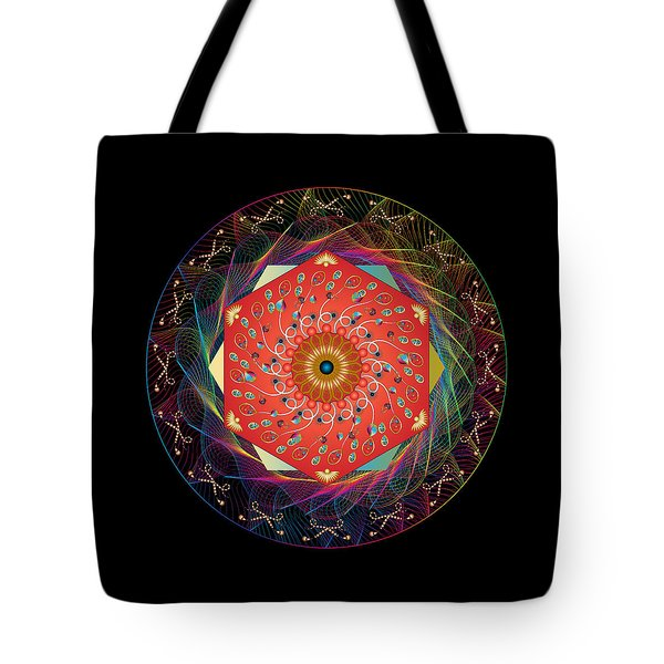 Tote Bag featuring the digital art Circulosity No 3436 by Alan Bennington