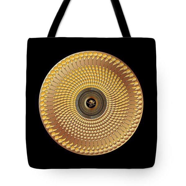 Tote Bag featuring the digital art Circulosity No 3437 by Alan Bennington