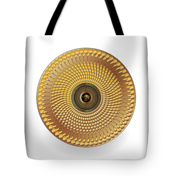 Tote Bag featuring the digital art Circulosity No 3438 by Alan Bennington