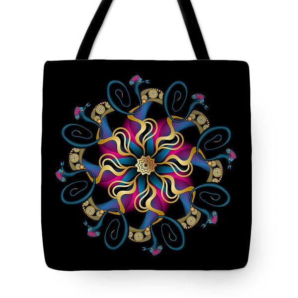 Tote Bag featuring the digital art Circulosity No 3439 by Alan Bennington