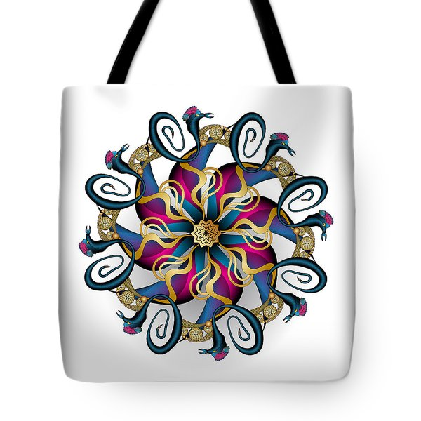 Tote Bag featuring the digital art Circulosity No 3440 by Alan Bennington