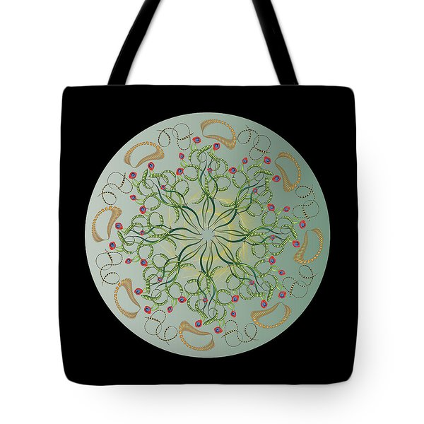 Tote Bag featuring the digital art Circulosity No 3441 by Alan Bennington